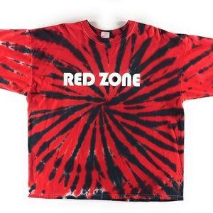 Vintage Adidas Red Zone Tye Dye Soccer tee